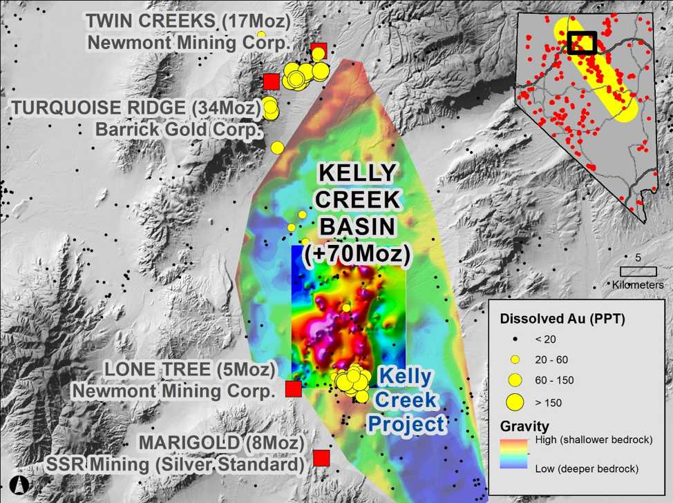 Kelly Creek Basin map