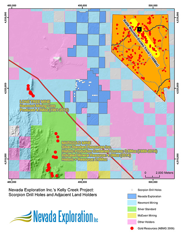 Nevada Exploration Inc Kelly Creek Project