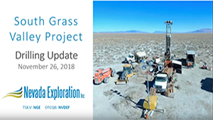 South Grass Valley News Release Video – November 26, 2018